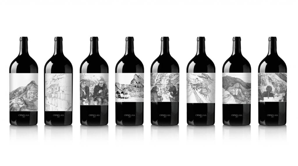 wine label product